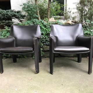 Mario Bellini Cab Lounge Chairs Cassina