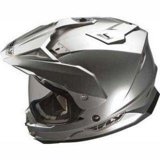 Find NEW FLY RACING TREKKER DUAL SPORT MOTORCYCLE SILVER HELMET SIZE: LG-2XL motorcycle in Kaukauna, Wisconsin, US, for US $125.50