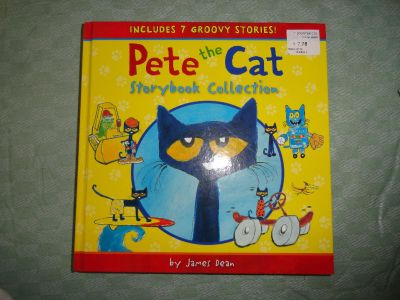 THICK ''PETE THE CAT'' HARDCOVER BOOK NO SALE