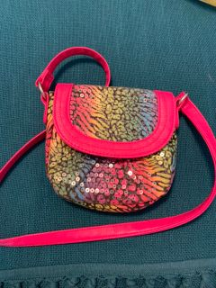 Small kids sequin purse, EUC