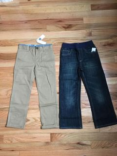 Baby Gap Pants Lot. Tan Pair is Adjustable Waist. Size 5t. Brand New with Tags.