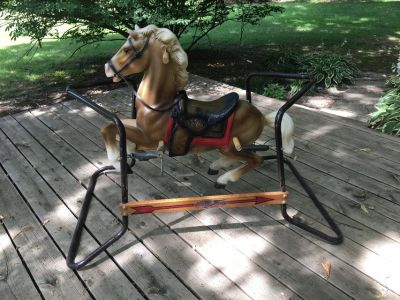 Vintage Flexible Flyer Riding/Bouncing Horse with Springs
