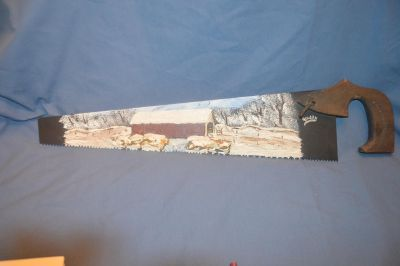 Old Saw with Panted Picture