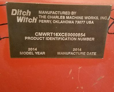 2014 Ditch Witch RT16
