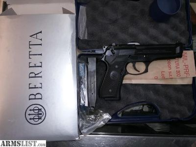 "For Sale: BERETTA 92FS 9MM 4.9"" FS 3-DOT 15-SHOT BLUED BLACK POLY ITALY"