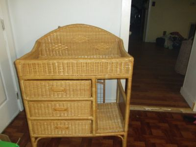wicker baby changing table