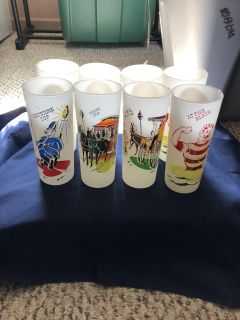 Great vintage glasses. Two of each design. $20.00