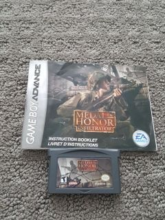 Nintendo GameBoy Advance Game Medal of Honor