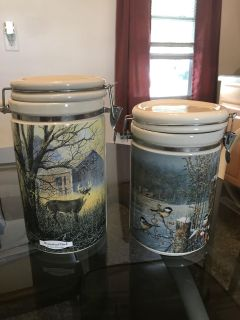 Ceramic storage canisters $15 for both
