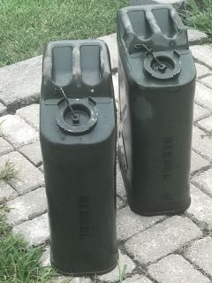 2 military style Diesel Cans..Both For $30