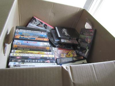 Box of DVD's(15 Used, 6 New)