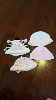 Baby girls hats all are size 0-3months