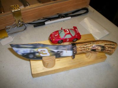 nascar knives and car