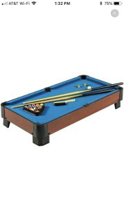 ISO mini pool table - 40 or more