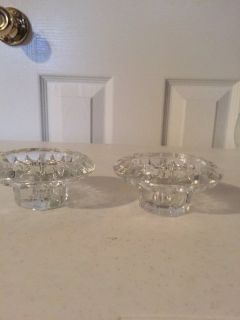 2 Crystal Candle Holders