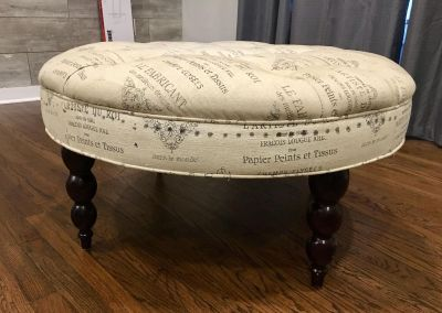 Round French inspired ottoman