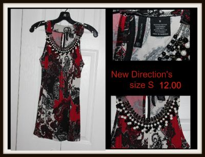 New Directions S beaded top