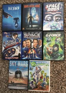 8 spaces themed dvd movies for children