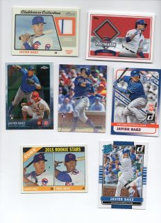 CHICAGO CUBS JAVIER BAEZ ROOKIE & JERSEY CARDS