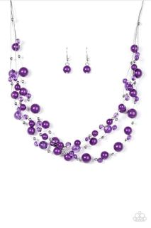 Paparazzi necklace set with matching earrings. Lead and nickel free $5