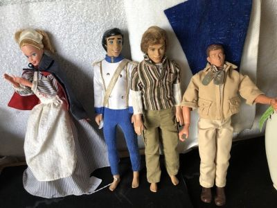 Vintage Mattel Dolls and Plastic Case