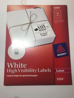 300 White Labels - 2.5