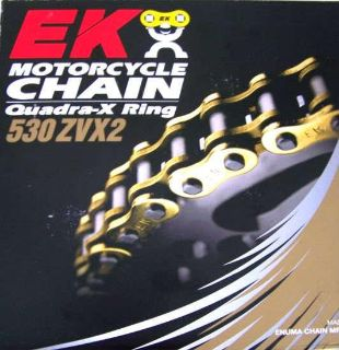 Sell Hayabusa EK ZVX2 ZVX 530 150 Link Gold Chain ZX14 ZX12 R1 B-King CBR GSXR 1000 motorcycle in Plattsburg, Missouri, US, for US $162.99