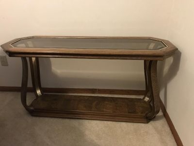 Sofa table coffee table 2 end tables..one with drawer 4 piece