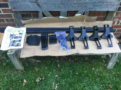NEW Universal Roof Rack Cross Bars, never used **READ PICK-UP DETAILS BELOW