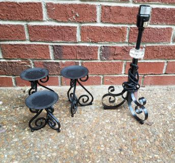 Candle holders & lamp