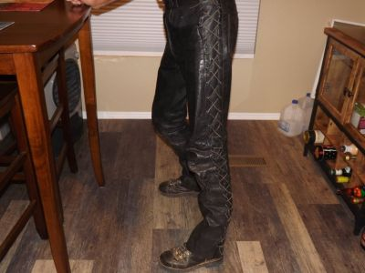 Leather ride pants