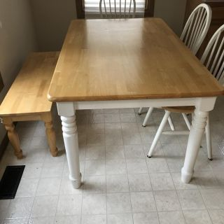 Solid Pine Dining Set (6) Piece