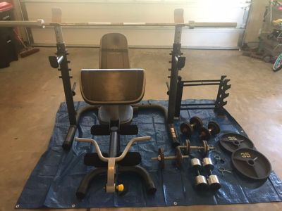 Golds Gym XRS20 weight bench and squat rack