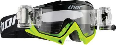 Find Thor Bomber Goggles Adult Black/Flo Green Mud Roll Offs Mud MX ATV UTV Motocross motorcycle in Longview, Washington, United States, for US $59.95