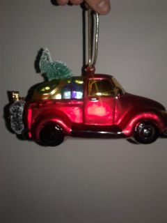Glass Car ornament . See comments for more photos
