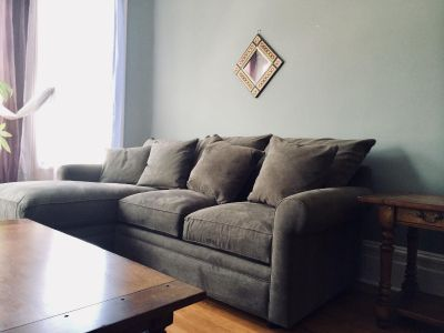 """Sofa & Chaise Sectional (Macy's Doss, 101"""")"""