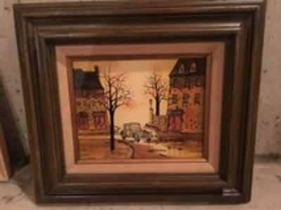 oil painting on canvas and wood frame by Hargrove