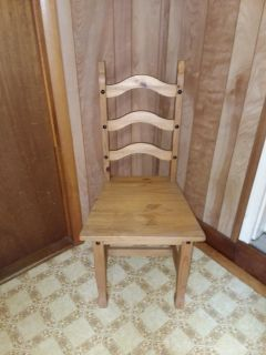 Solid wood chair excellent condition only one large seat and sturdy