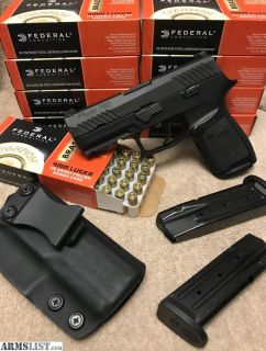 For Sale: P320c. Night sights. 3 mags. Holster.
