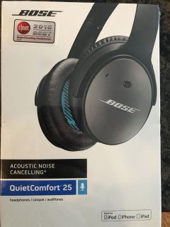 BRAND NEW Bose Headphones Acoustic Noise Canceling Quiet Comfort 25 - still sealed - 83rd & K7, XP