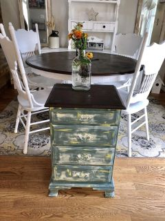 Solid wood entry table / nightstand