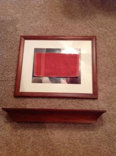 Matching picture frame and shelf