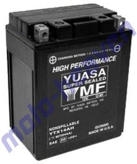Buy Yuasa Battery YTX14AH-BS Polaris Sportsman 400 425 450 Diesel motorcycle in Sugar Grove, Pennsylvania, United States, for US $89.99