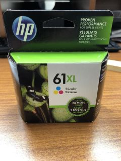 HP 61 xl tri-color ink cartridge. New.