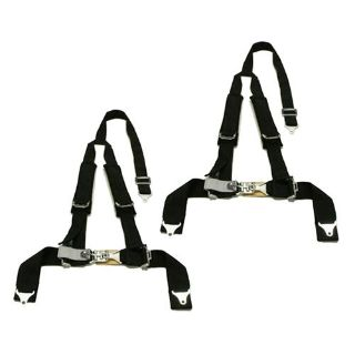 "Purchase 2 Sand Car Rail Tiger 4 Point Y Harness Seat Belts Sewn In 2""x3"" w/ Pads - Black motorcycle in Buena Park, California, US, for US $162.99"