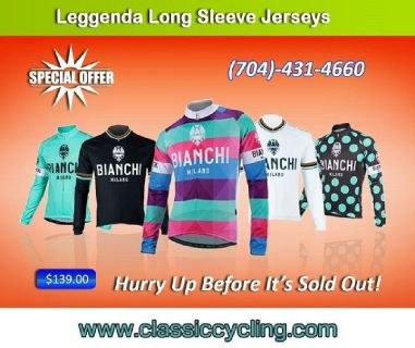 Exclusive Sale on Bianchi Milano Men's Winter Jersey by Classic Cycling