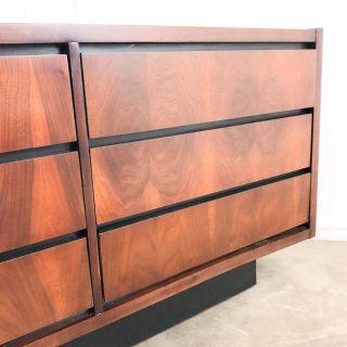 Lane Altavista walnut six drawer dresser credenza