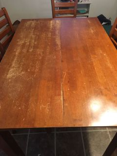 High Wood Table and Chairs