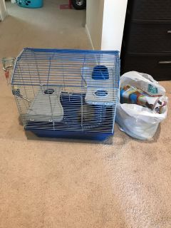 Mouse/Hamster Cage and Supplies