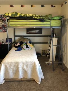 IKEA loft bed and twin beds